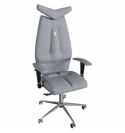Кресло Kulik System JET для руководителя, ортопедическое, цвет серебрянный