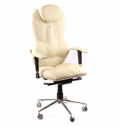 Кресло Kulik-System Grande для руководителя, ортопедическое, цвет бежевый