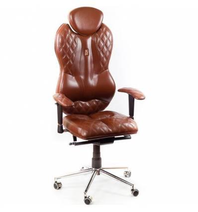 Кресло Kulik-System Grande для руководителя, ортопедическое, цвет коричневый