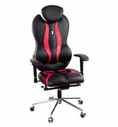 Кресло Kulik-System Grande для руководителя, ортопедическое, цвет черно-красный