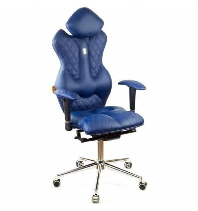 Кресло Kulik-System Royal для руководителя, ортопедическое, цвет синий
