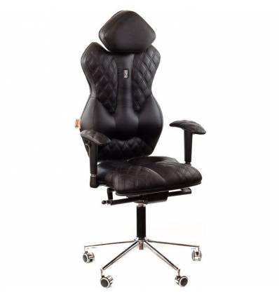 Кресло Kulik-System Royal для руководителя, ортопедическое, цвет черный