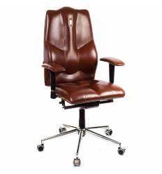Кресло Kulik-System Business для руководителя, ортопедическое, цвет коричневый
