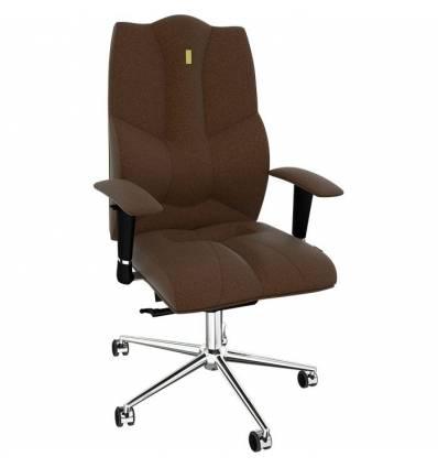 Кресло Kulik System Business для руководителя, ортопедическое, цвет шоколад