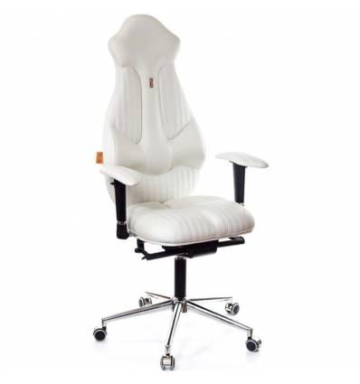 Кресло Kulik-System Imperial Fashion для руководителя, ортопедическое, цвет белый