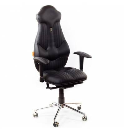 Кресло Kulik-System Imperial Fashion для руководителя, ортопедическое, цвет черный