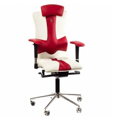 Кресло Kulik-System Elegance для опеаратора, ортопедическое с подголовником, цвет бело-красный