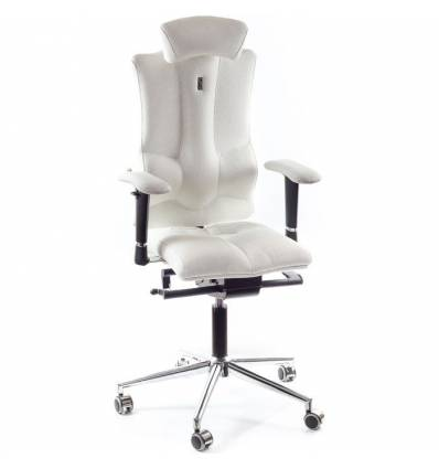 Кресло Kulik-System Elegance для оператора, ортопедическое с подголовником, цвет белый
