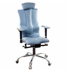 Кресло Kulik-System Elegance для оператора, ортопедическое с подголовником, цвет голубой