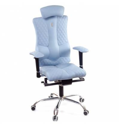 Кресло Kulik-System Elegance Design для оператора, ортопедическое с подголовником, цвет голубой