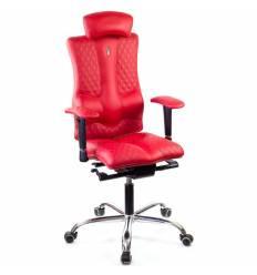 Кресло Kulik-System Elegance Design для оператора, ортопедическое с подголовником, цвет красный
