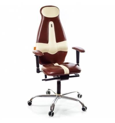 Кресло Kulik-System Galaxy для оператора, ортопедическое, цвет коричнево-бежевый