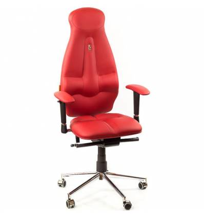 Кресло Kulik-System Galaxy для оператора, ортопедическое, цвет красный