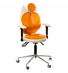 Кресло Kulik System Trio детское 6-12 лет, ортопедическое, цвет бело-оранжевый