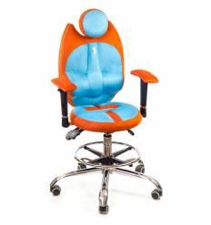 Кресло Kulik System Trio детское 6-12 лет, ортопедическое, цвет оранжево-бирюзовый