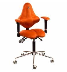 Кресло Kulik System Kids детское 4-8 лет, ортопедическое, цвет оранжевый