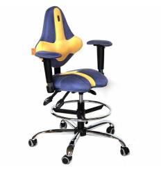 Кресло Kulik System Kids детское 4-8 лет, ортопедическое, цвет сине-желтый