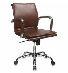 Кресло Бюрократ CH-993-LOW/BROWN для руководителя, цвет коричневый