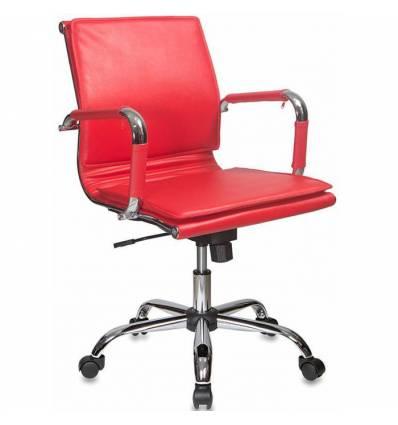 Кресло Бюрократ CH-993-LOW/RED для руководителя, цвет красный