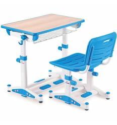 Комплект парта+стул Libao LK-09/BLUE детский, цвет синий
