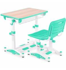 Комплект парта+стул Libao LK-09/GREEN детский, цвет зеленый