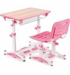 Комплект парта+стул Libao LK-09/PINK детский, цвет розовый