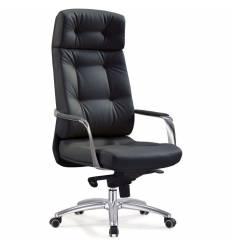 Кресло Бюрократ _DAO/BLACK для руководителя, кожа, цвет черный