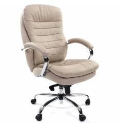 Кресло CHAIRMAN 795/white для руководителя, кожа, цвет белый