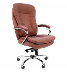 Кресло CHAIRMAN 795/brown для руководителя, кожа, цвет коричневый