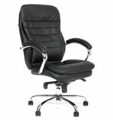 Кресло CHAIRMAN 795/black для руководителя, кожа, цвет черный