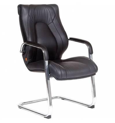 Кресло CHAIRMAN Fuga V/black для посетителя, экокожа, цвет черный