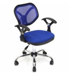 Кресло CHAIRMAN 380/TW10-TW05 для оператора, сетка/ткань, цвет синий