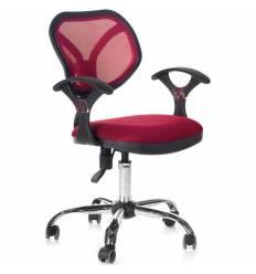 Кресло CHAIRMAN 380/TW13-TW06 для оператора, сетка/ткань, цвет бордовый