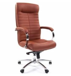 Кресло CHAIRMAN 480 Brown для руководителя, экокожа, цвет коричневый