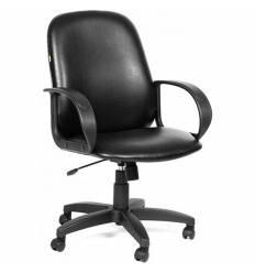 Кресло CHAIRMAN 279М/black для руководителя, экокожа, цвет черный