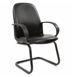 Кресло CHAIRMAN 279V/black для посетителя, экокожа, цвет черный