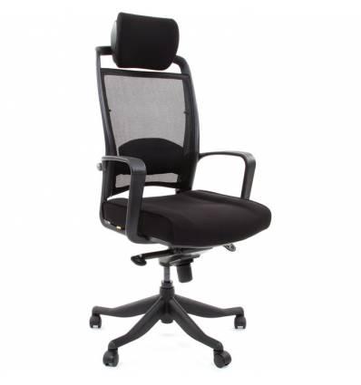 Кресло CHAIRMAN 283/26-28 для руководителя, Сетка/Ткань, цвет черный