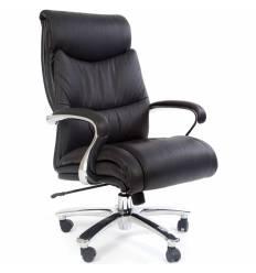 Кресло CHAIRMAN 401 для руководителя усиленное до 250 кг, кожа, цвет черный
