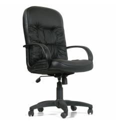 Кресло CHAIRMAN 416/black для руководителя, кожа, цвет черный