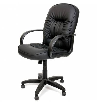 Кресло CHAIRMAN 416M/black glossy для руководителя, экокожа глянцевая, цвет черный