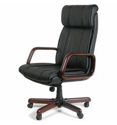 Кресло CHAIRMAN 419 для руководителя, кожа, цвет черный