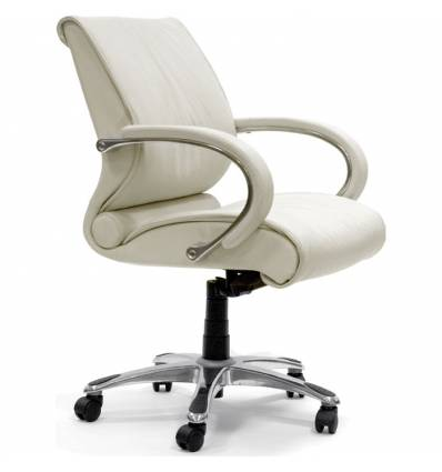 Кресло CHAIRMAN 444/white для руководителя, кожа, цвет белый