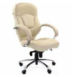 Кресло CHAIRMAN 430/white для руководителя, кожа, цвет белый