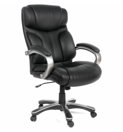 Кресло CHAIRMAN 435/black для руководителя, кожа, цвет черный