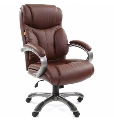Кресло CHAIRMAN 435/brown для руководителя, кожа, цвет коричневый