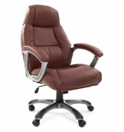 Кресло CHAIRMAN 436/brown для руководителя, кожа, цвет коричневый