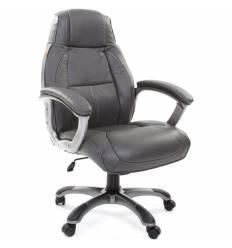 Кресло CHAIRMAN 436/grey для руководителя, кожа, цвет серый