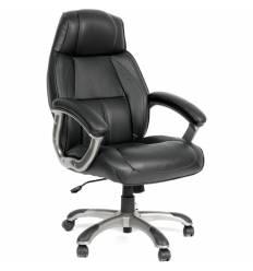 Кресло CHAIRMAN 436/black для руководителя, кожа, цвет черный