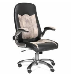 Кресло CHAIRMAN 439/beige для руководителя, микрофибра/экокожа, цвет бежевый/черный