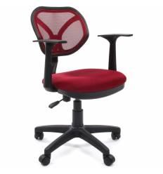Кресло CHAIRMAN 450 NEW/TW13-TW06 для оператора, сетка/ткань, цвет бордовый